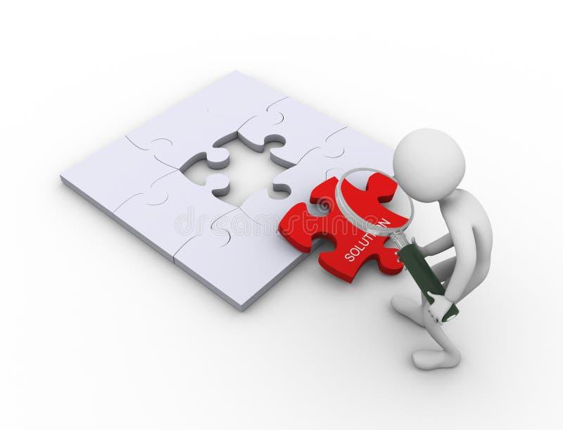 搜索解决方法 向量例证