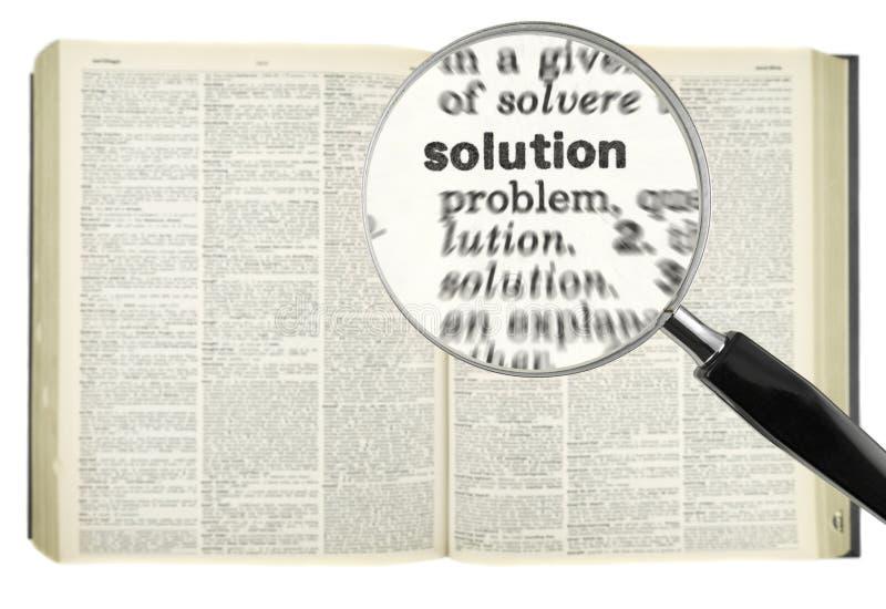 搜索解决方法 免版税库存图片