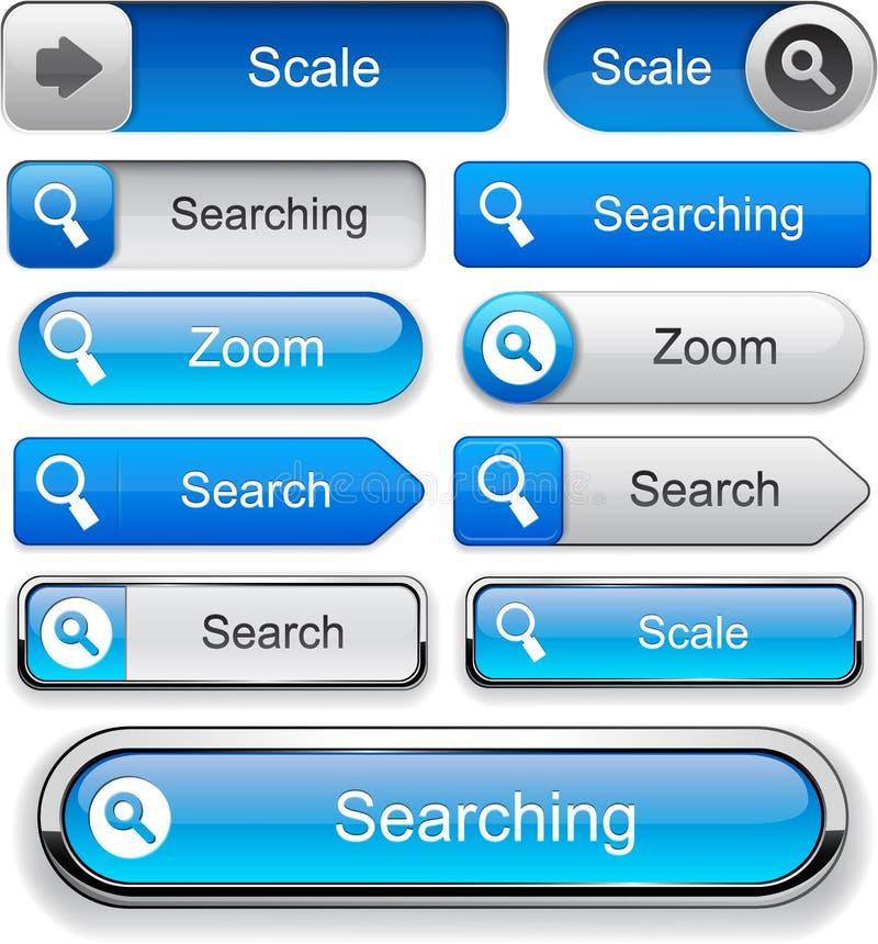 搜索高详细万维网按钮收藏。 皇族释放例证