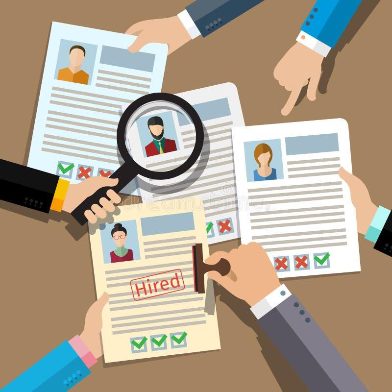搜寻专业人员的概念 库存例证