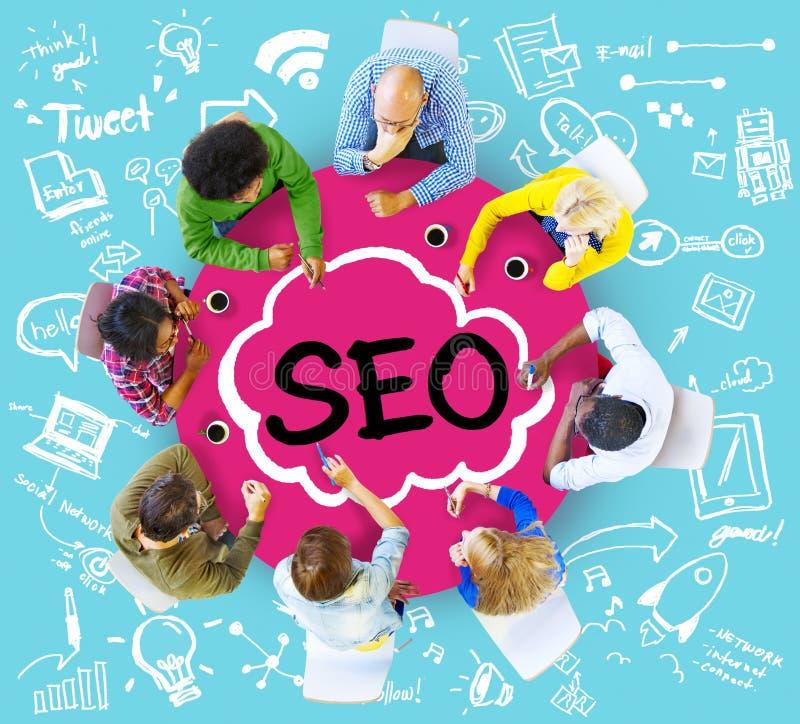 搜索引擎优化经营战略营销概念 库存图片