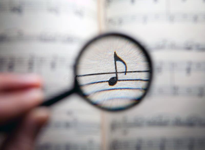 搜寻音乐 图库摄影