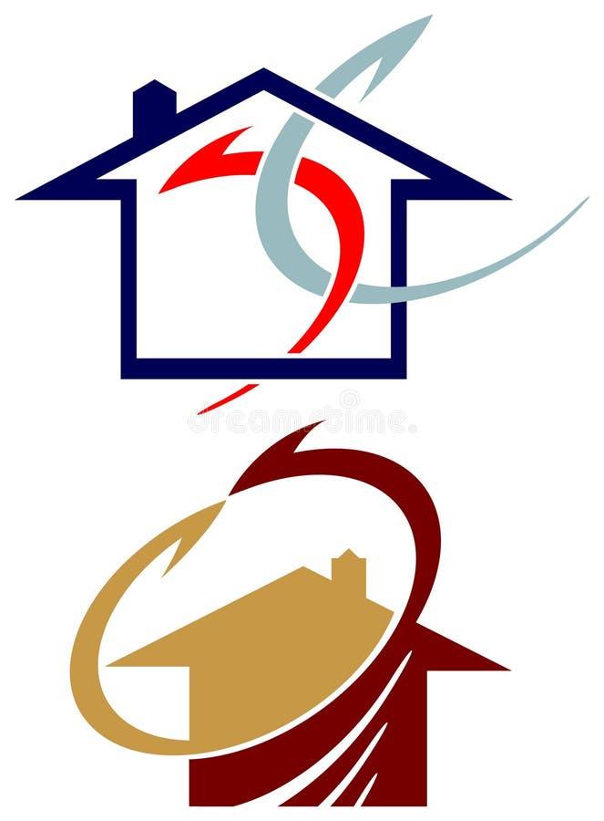 搬家工人商标集合 向量例证
