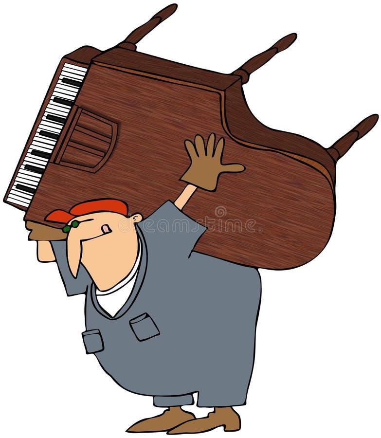搬家工人钢琴 库存例证