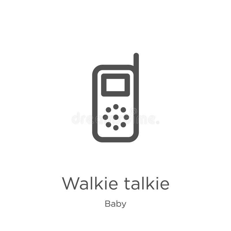 携带无线电话从婴孩汇集的象传染媒介 稀薄的线携带无线电话概述象传染媒介例证 概述,稀薄的线 皇族释放例证