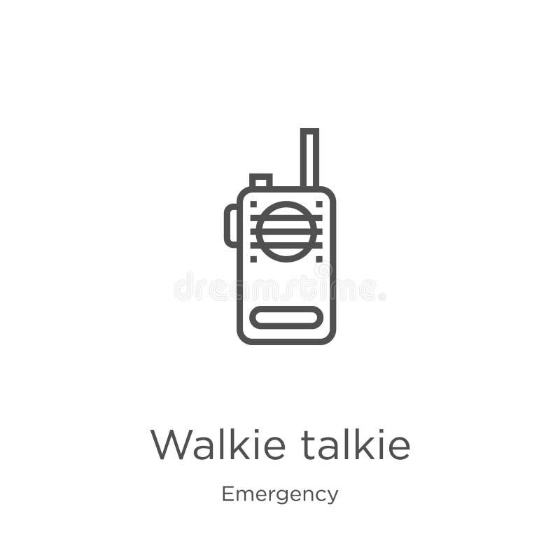 携带无线电话从紧急收藏的象传染媒介 稀薄的线携带无线电话概述象传染媒介例证 r 皇族释放例证