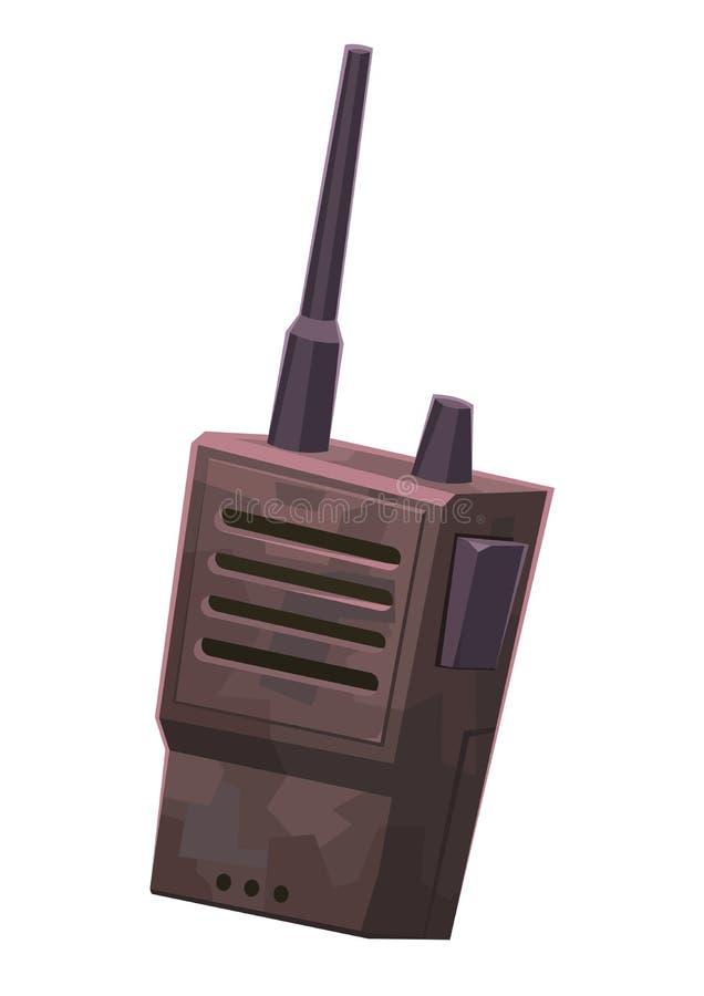 携带无线电话便携式的手扶的无线电动画片例证 皇族释放例证