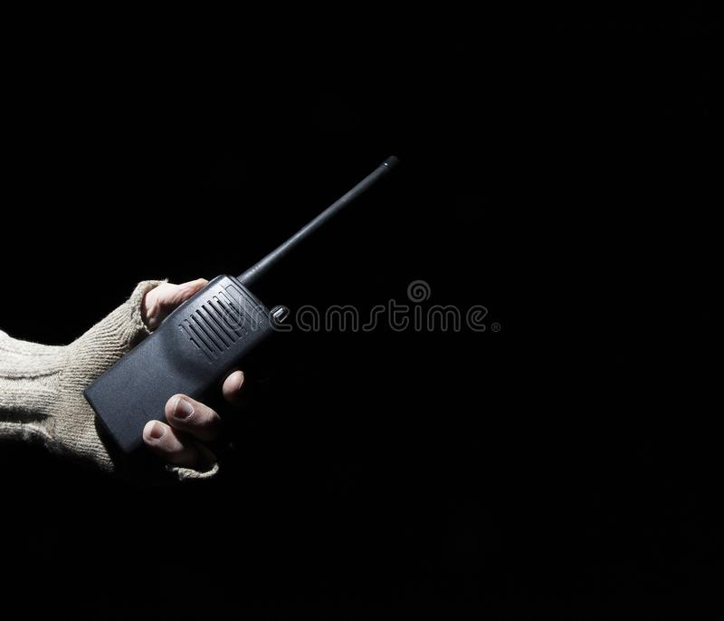 携带无线电话在手上 库存图片