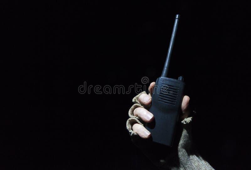 携带无线电话在晚上 免版税图库摄影