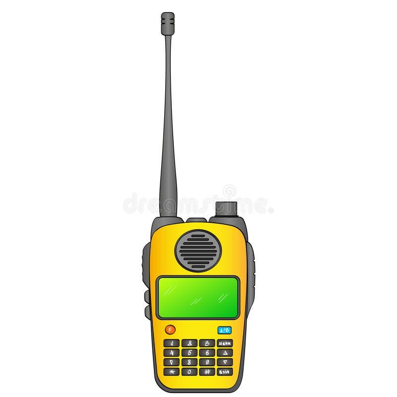 携带无线电话 广播站 便携式的接受收发器 在一个空白背景的对象 库存例证