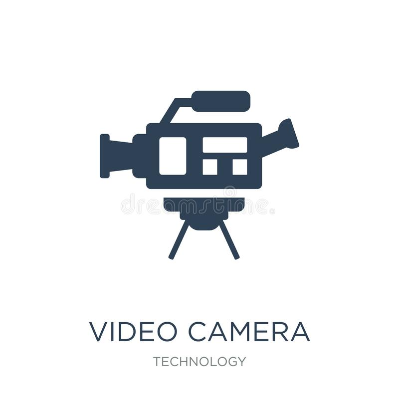 摄像头在时髦设计样式的侧视图象 摄像头在白色背景隔绝的侧视图象 摄像头边 皇族释放例证