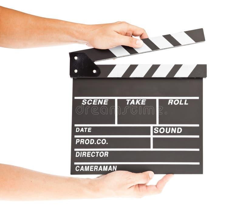 摄制与空间和现有量的拍板 免版税库存照片