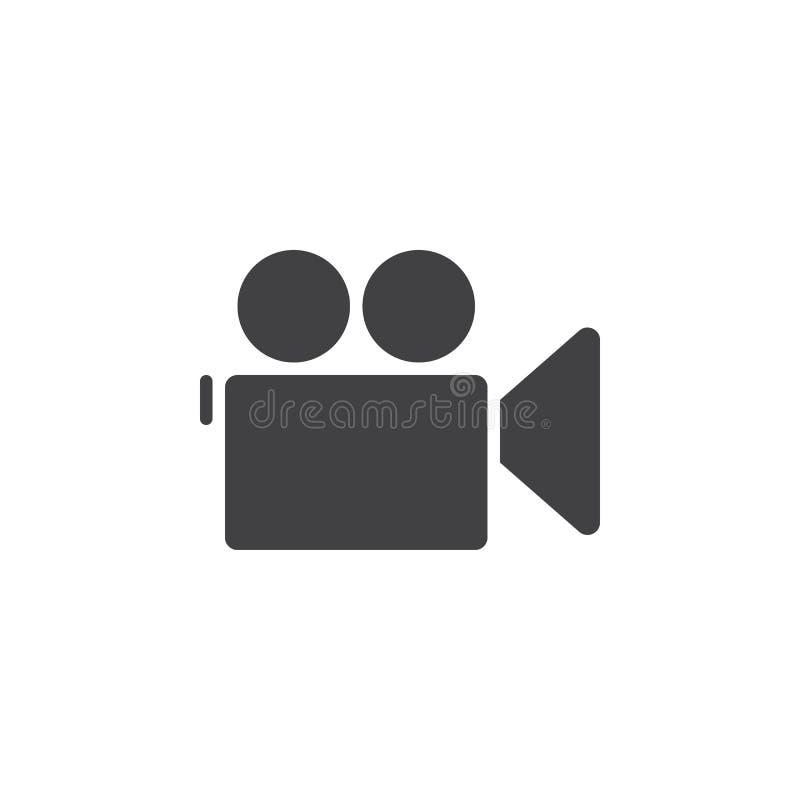 摄制照相机象,坚实商标例证,图表isol 库存例证