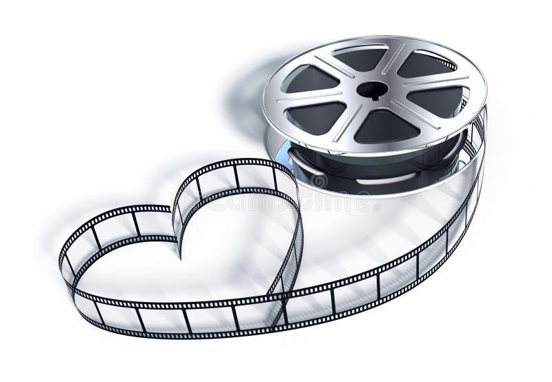 摄制电影短管轴 向量例证