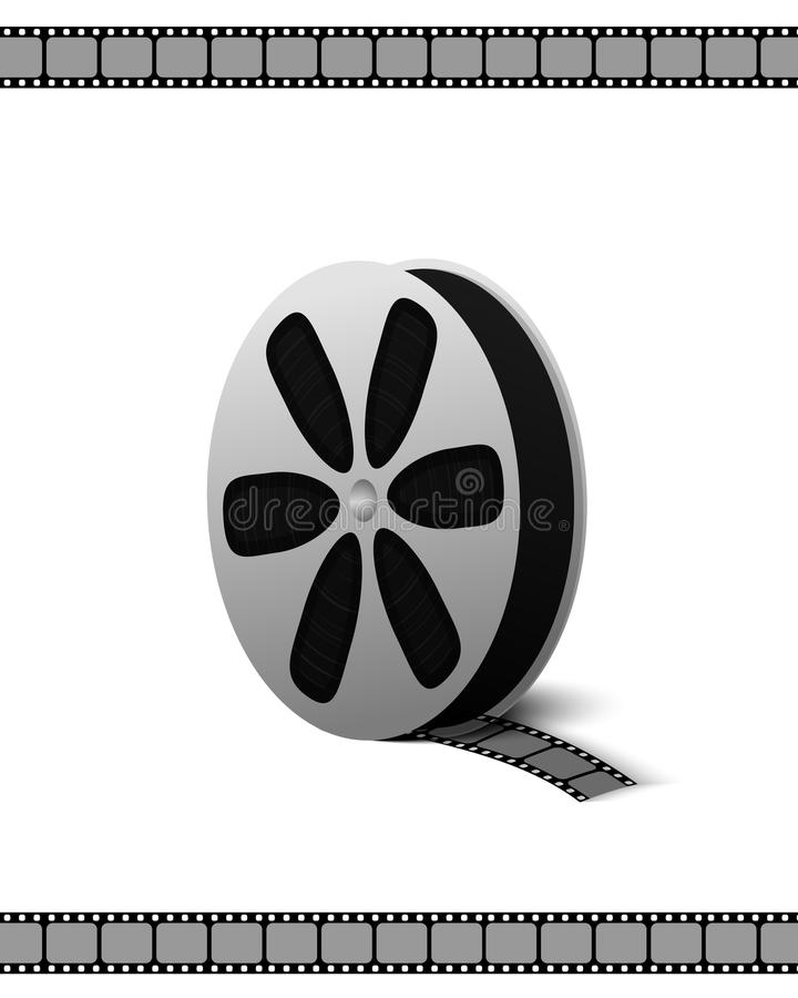 摄制被隔绝的记录的电影和录影的卷摄象机 向量例证