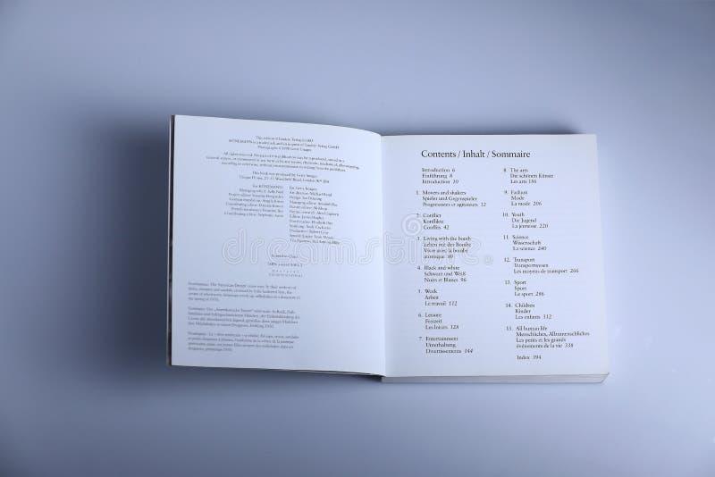 摄影书目录页 免版税库存照片