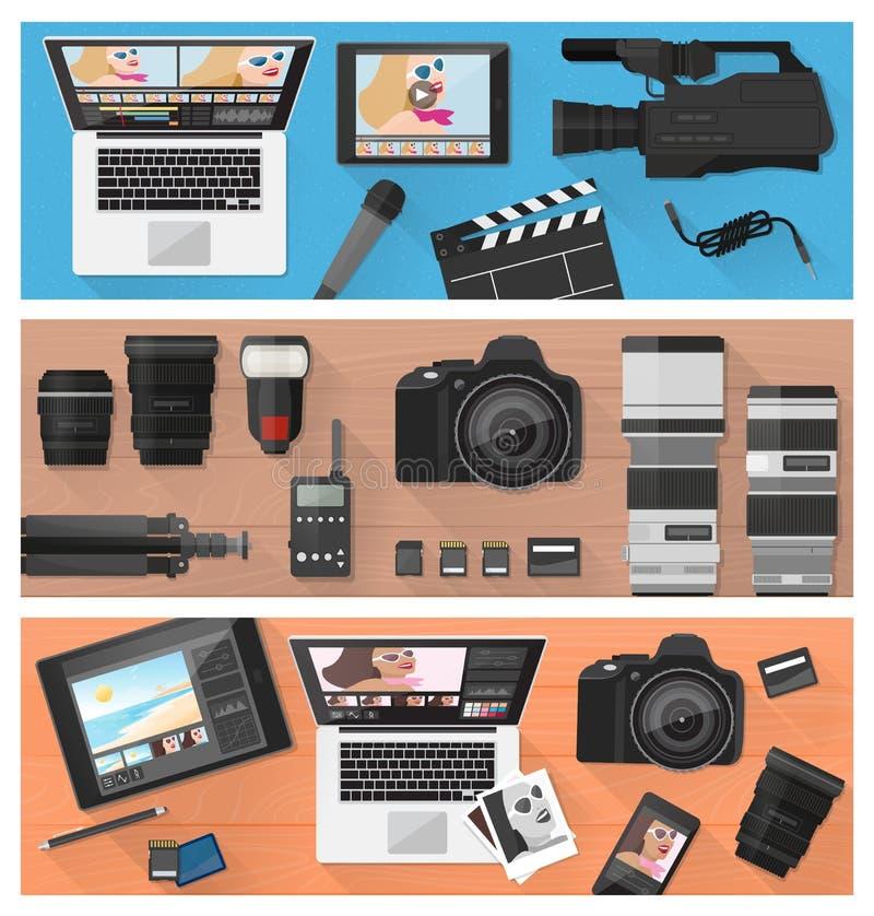 摄影和录影做 皇族释放例证