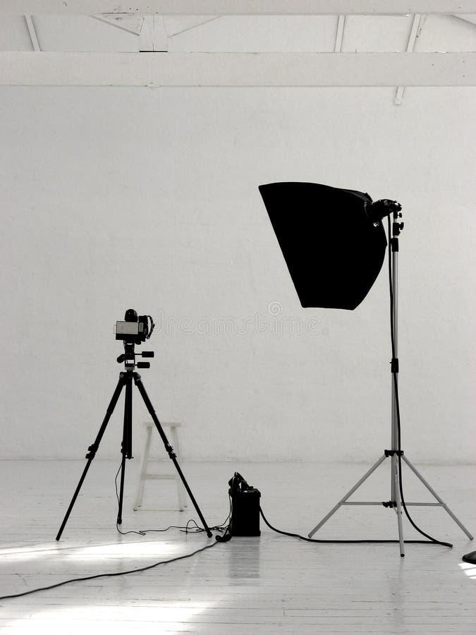 摄影小的工作室 免版税库存照片