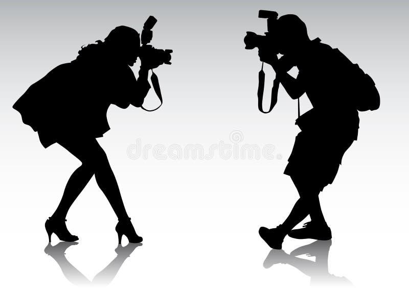 摄影师二 库存例证