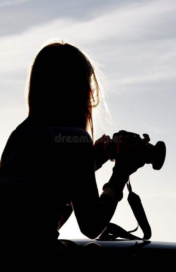 摄影师剪影 库存图片