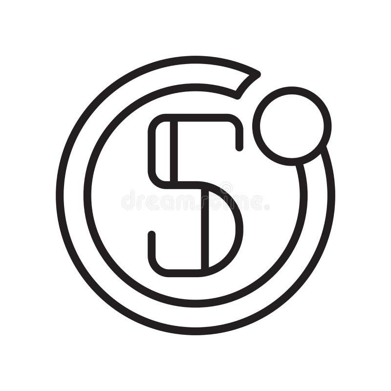 摄影师在白色背景隔绝的象传染媒介、摄影师标志、线或者线性标志和标志设计在概述样式 皇族释放例证