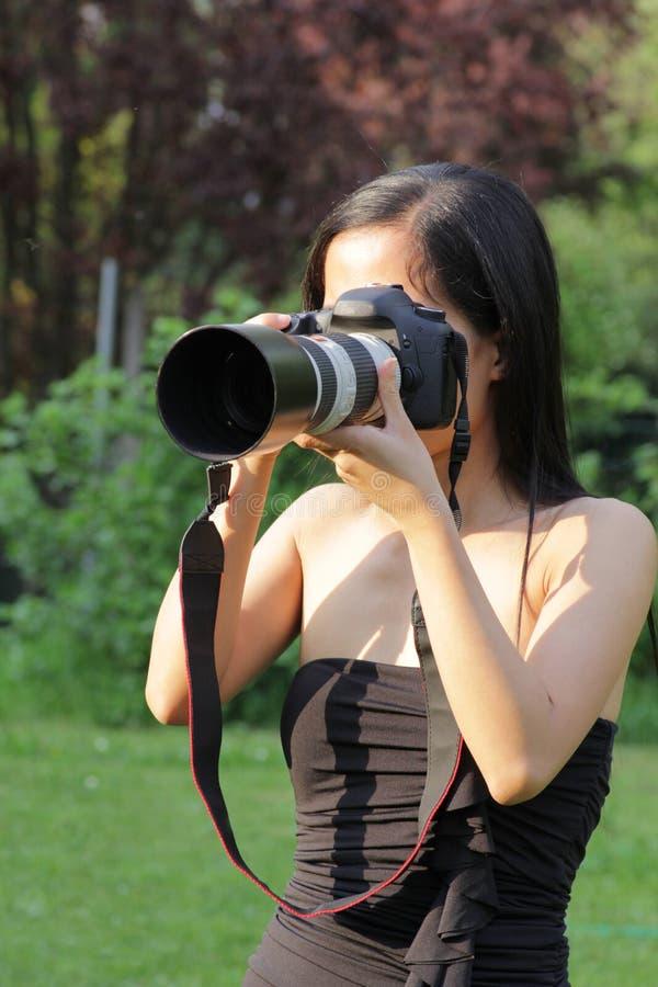 摄影师妇女年轻人 库存照片