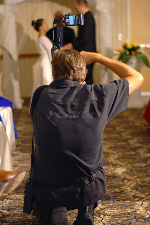 摄影师婚礼 免版税库存图片