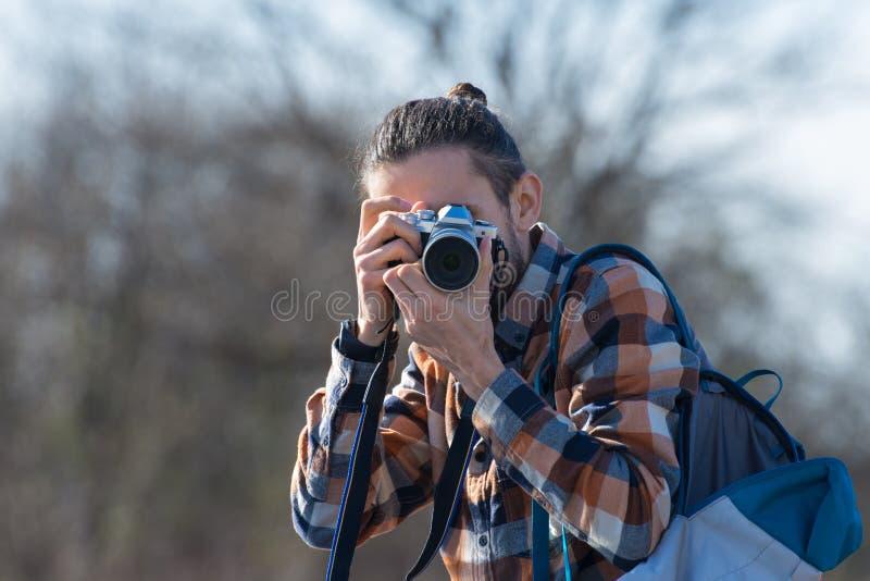 摄影师射击特写镜头 免版税图库摄影