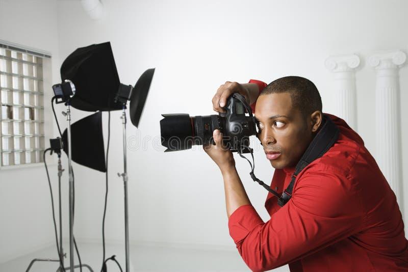 摄影师工作室 免版税库存照片