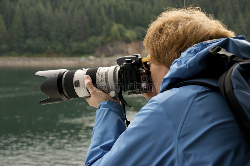 摄影师工作 库存照片