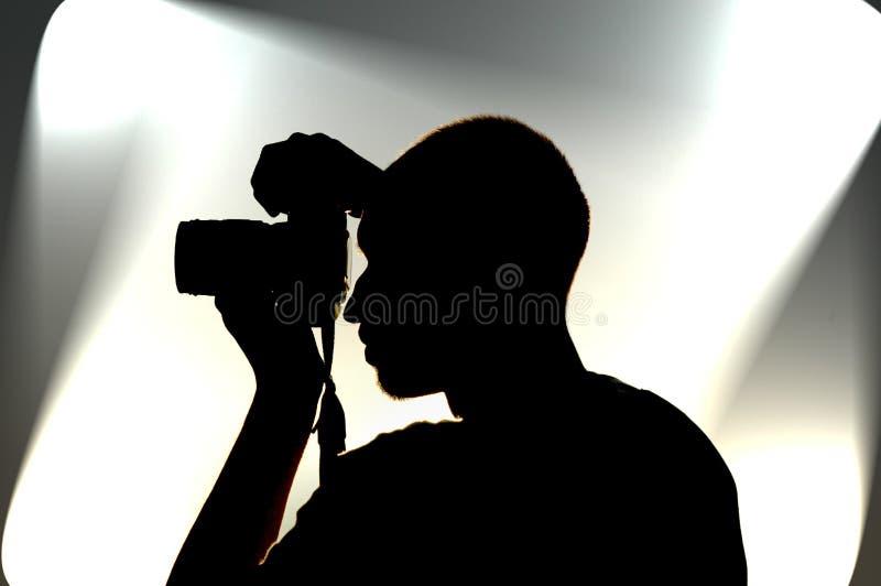 摄影师工作 免版税库存图片