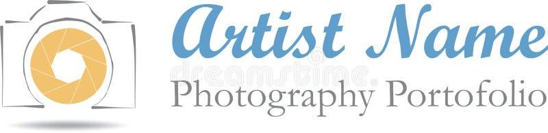 摄影师徽标例证 库存照片