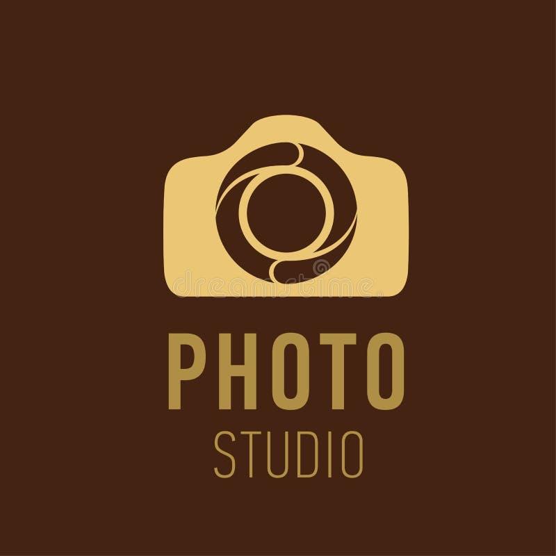 摄影师或照片演播室的传染媒介商标 传染媒介照片演播室的商标设计 照片或摄象机标志 向量例证