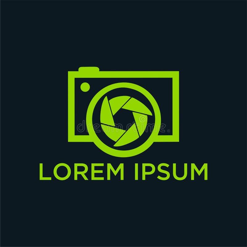摄影师的传染媒介商标 库存照片