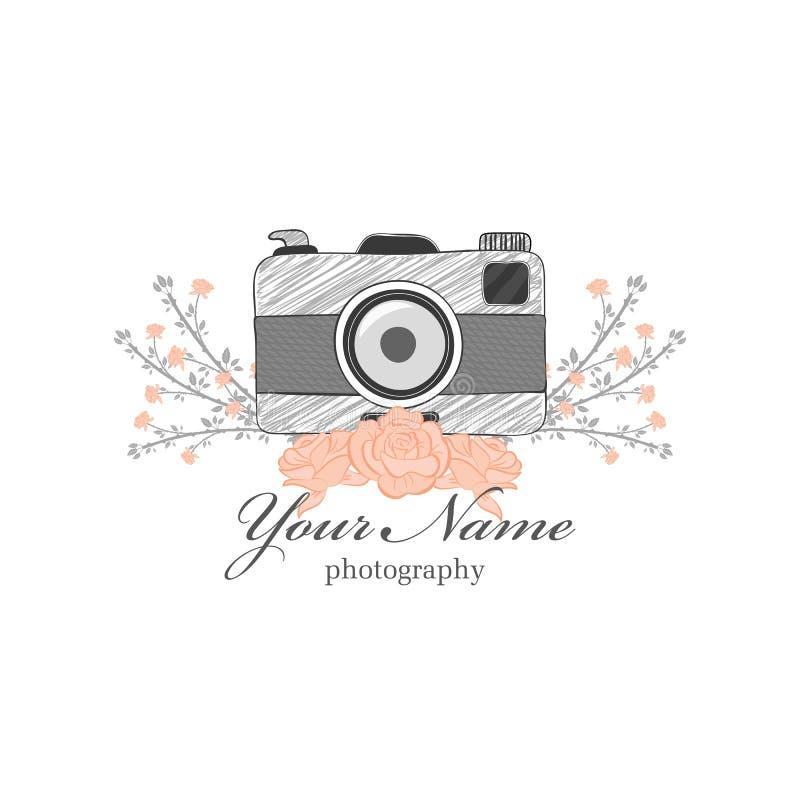 摄影师的商标 库存例证