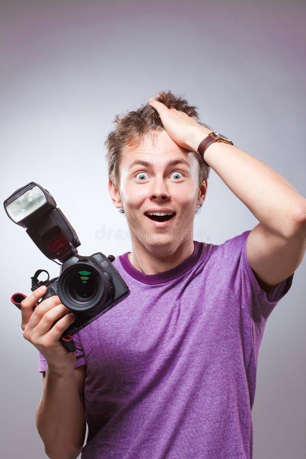 摄影师纵向 库存照片