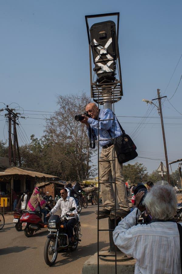 摄影师近的老Chanda chandrapur马哈拉施特拉拍摄的摄影师 库存图片