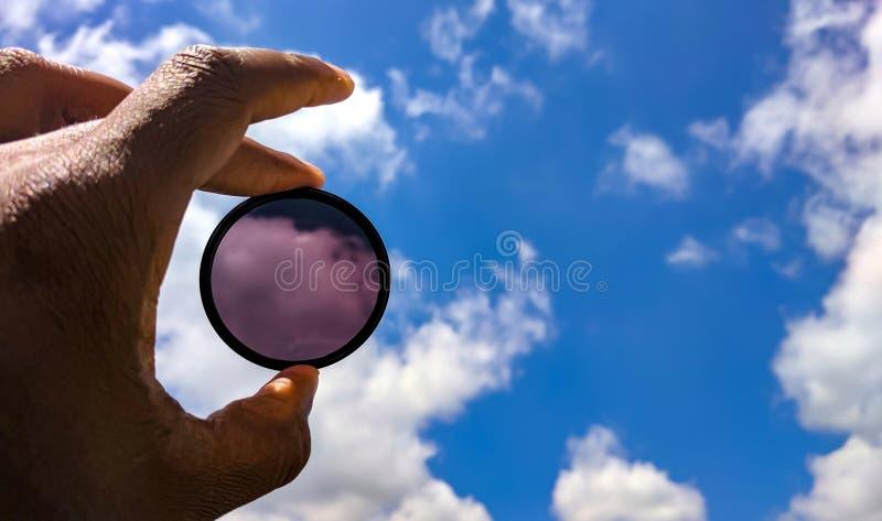 摄影师透镜过滤器 库存照片