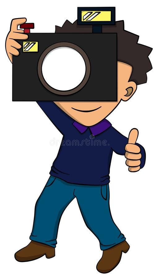 摄影师 向量例证