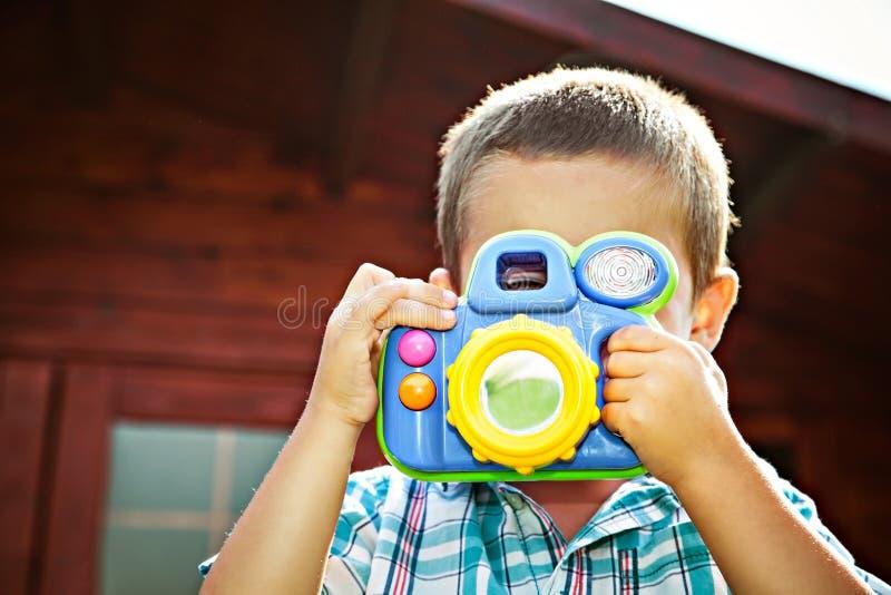 年轻摄影师 免版税库存照片