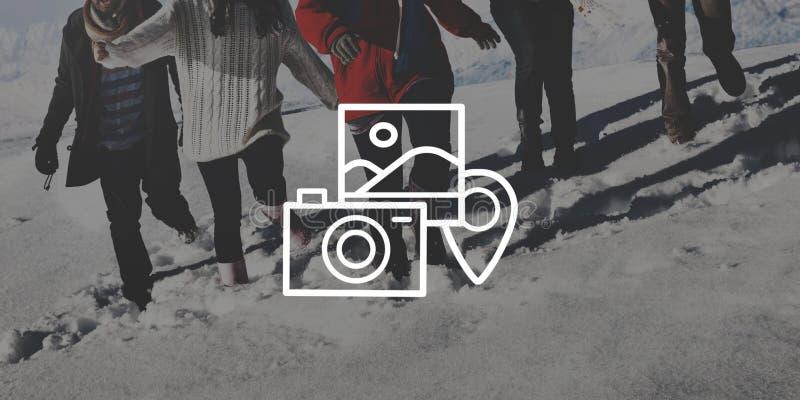摄影照相机照片画象拍摄的概念 免版税库存照片