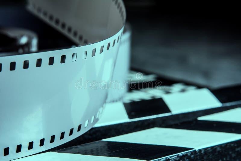 摄影的影片 射击的影片的电影拍板 库存图片