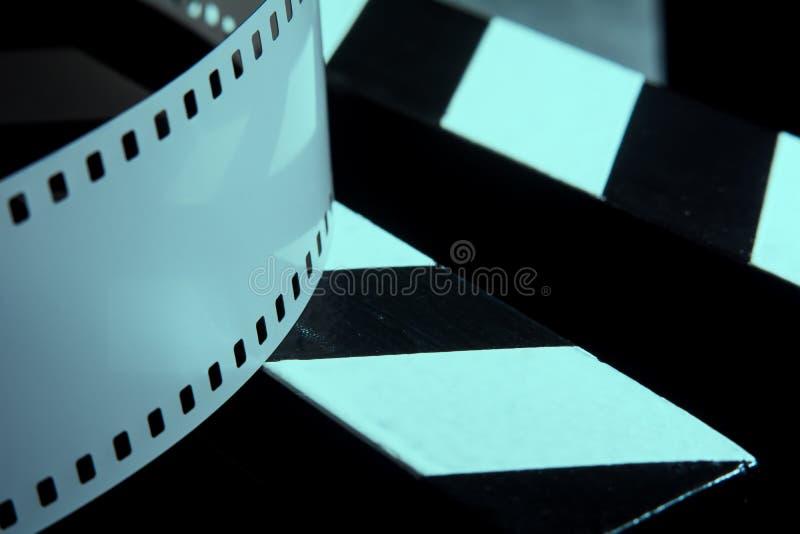 摄影的影片 射击的影片的电影拍板 免版税库存照片