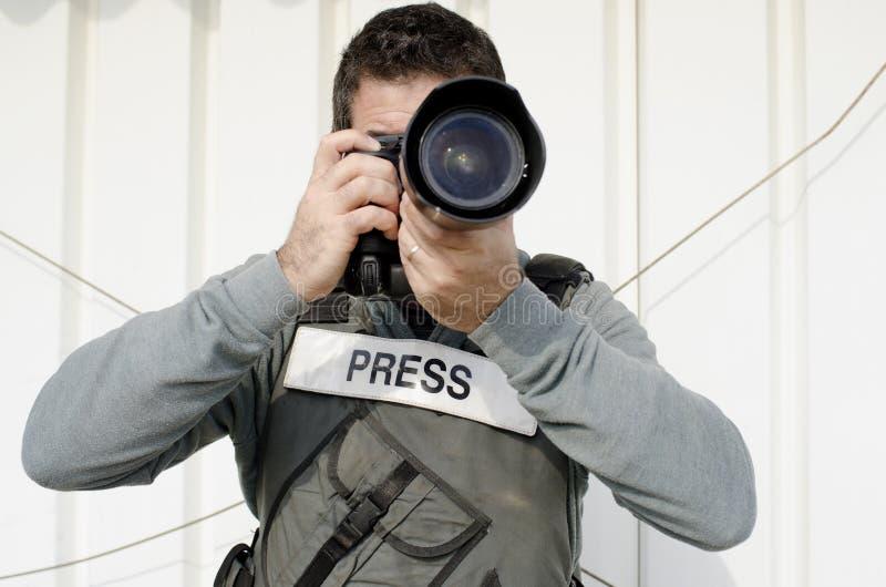摄影记者专业人员 库存图片