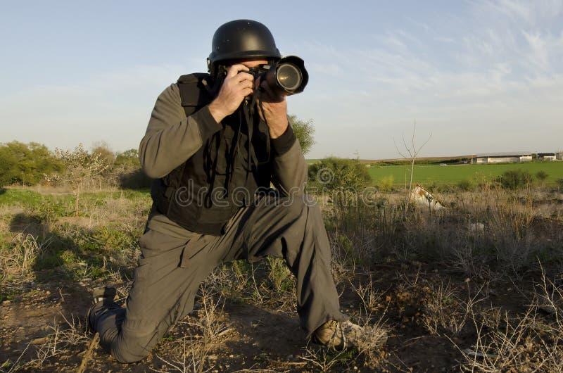 摄影记者专业人员 免版税库存照片