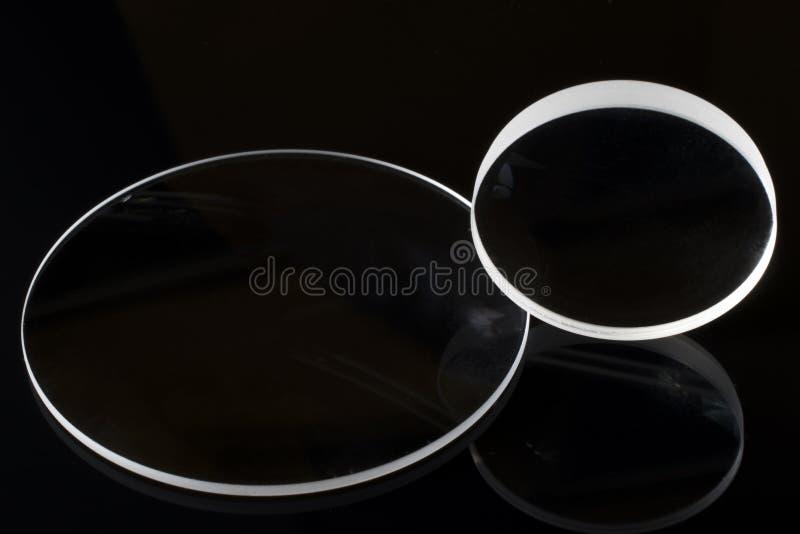 摄影透镜光学透镜有黑背景 免版税库存照片