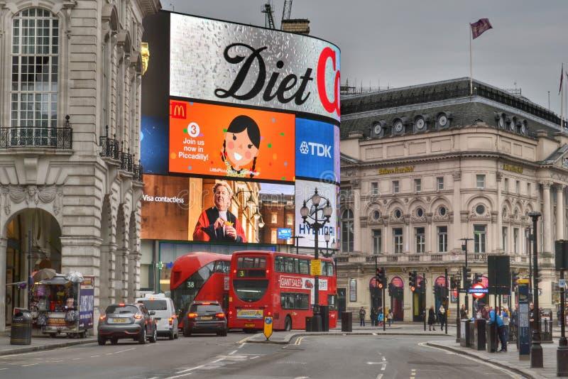 摄政的街道皮卡迪利广场伦敦 图库摄影