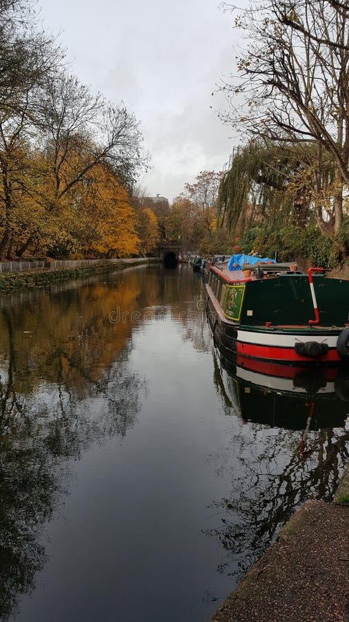 摄政的` s运河伦敦 库存照片