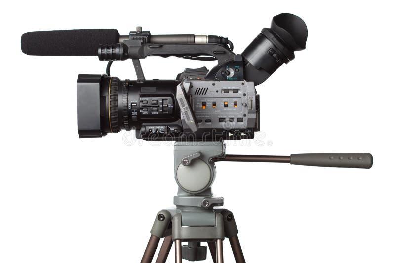 摄象机充分的hd专业人员 库存图片