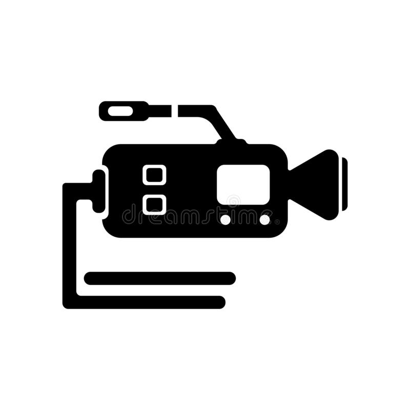 摄象机象在白色backg和标志隔绝的传染媒介标志 向量例证